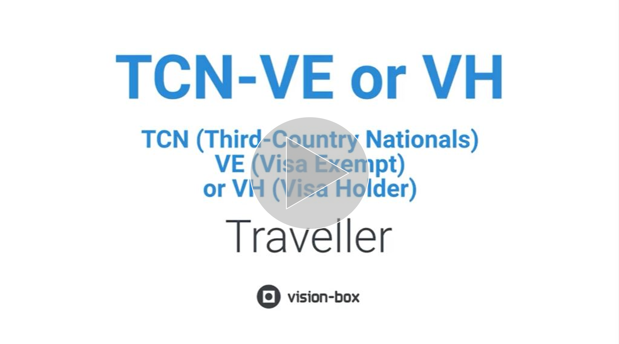 Vision-Box Smart Borders Solutions - Third-Country Nationals Journey_video
